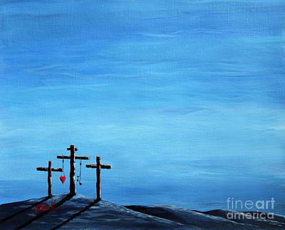 The Wooden Cross Paintings Original Artwork