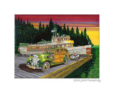 Seattle Waterfront Framed Prints