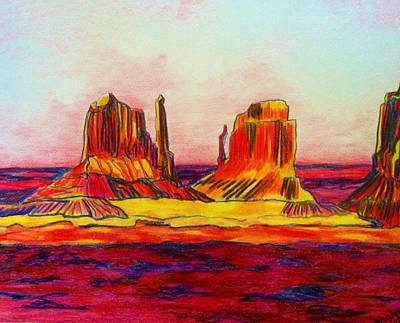 Desert Sunset Drawings