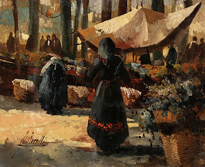 Market Scene Paintings