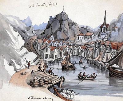 Norway Harbor Drawings