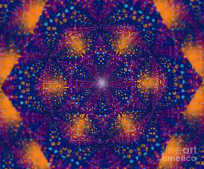 Glowing Magen David Art