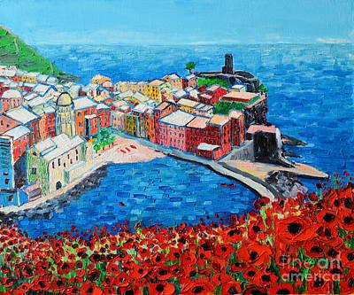 Italian White Poppy Paintings
