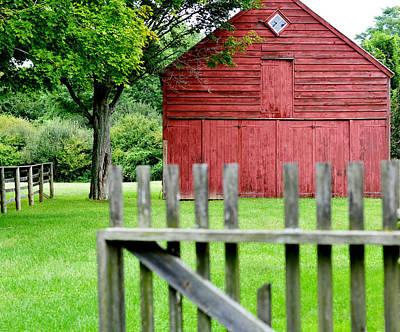 Red Barn. New England Digital Art Prints