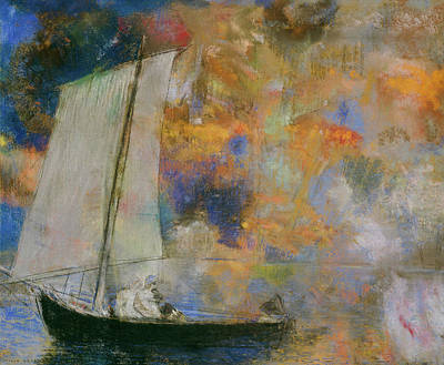 Designs Similar to Flower Clouds, Sailboat, 1903