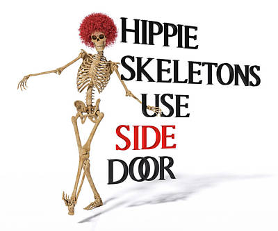Designs Similar to Hippie Skeletons Use Side Door