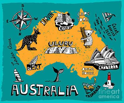 Designs Similar to Illustrated Map Of Australia