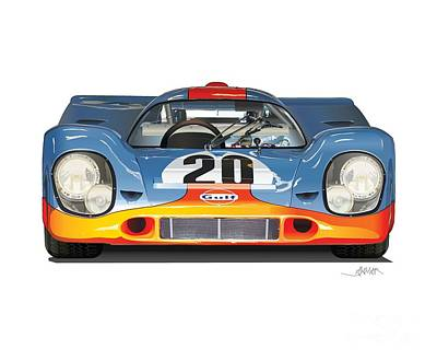 Designs Similar to Porsche 917 Gulf Illustration
