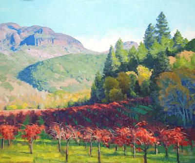 Napa Valley Vineyard Paintings Prints