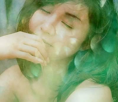 Woman Daydreaming Digital Art