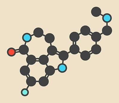 Designs Similar to Rucaparib Cancer Drug Molecule