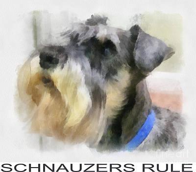 Schnauzer Digital Art Original Artwork