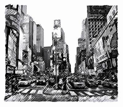 Cities Drawings Original Artwork