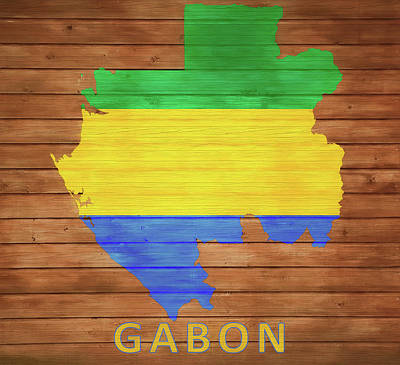 Designs Similar to Gabon Rustic Map On Wood