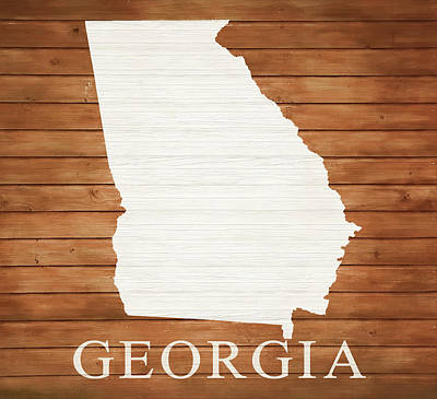 Designs Similar to Georgia Rustic Map On Wood