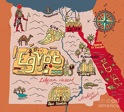 Designs Similar to Illustrated Map Of Egypt
