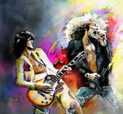 Robert Plant Mixed Media Original Artwork