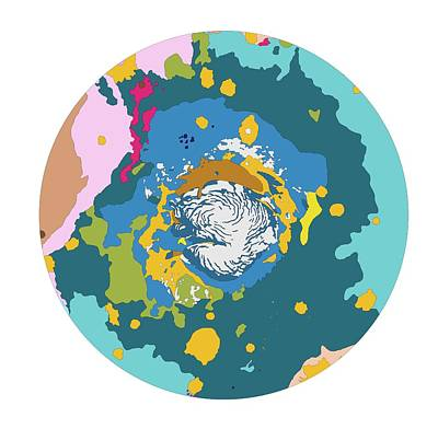 Designs Similar to Mars North Polar Map