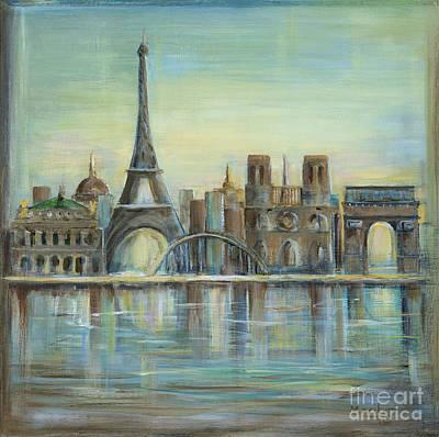 Paris In Blue Prints
