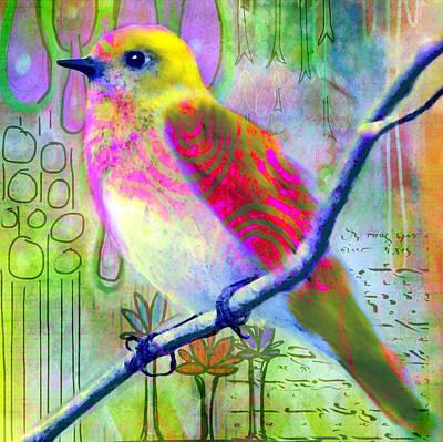 Bird On Tree Paintings Prints