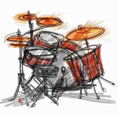 Drum Mixed Media