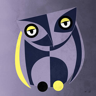 Abstract Owl Paintings | Fine Art America
