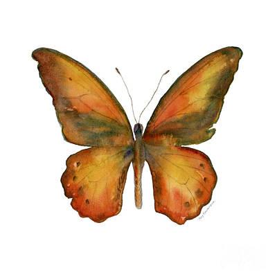 Orange And Brown Wings Prints