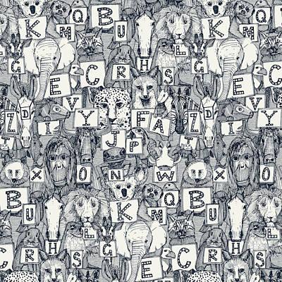 Designs Similar to Animal Abc Indigo Ivory