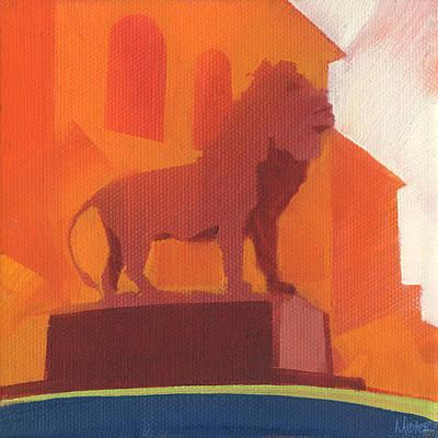 Lion Statue Art Prints