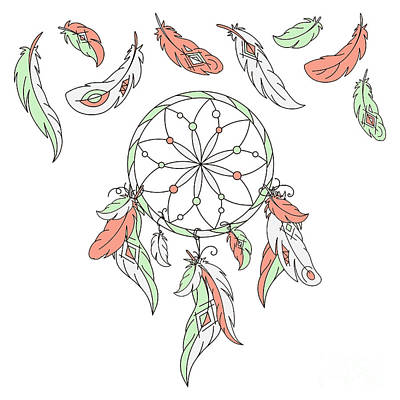 Designs Similar to Dreamcatcher, Feathers. Vector