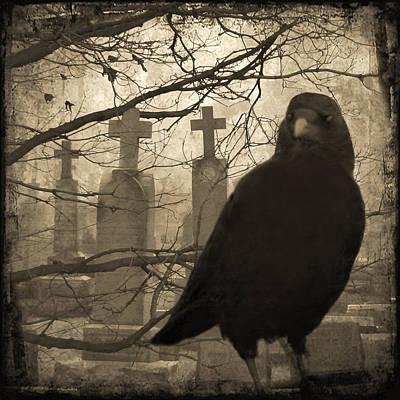 Ravens In Graveyard Art