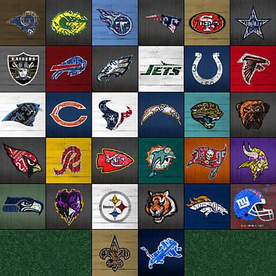 Broncos Mixed Media Prints