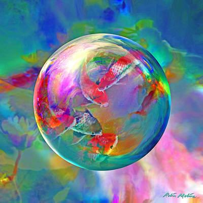 Fish. Spherical Digital Art