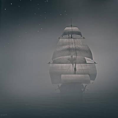 Night Fishing Digital Art