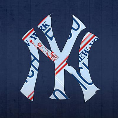 Yankees Mixed Media Prints