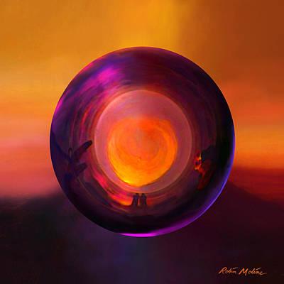 Sunset Abstract Digital Art Prints