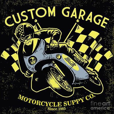 Motorcycle Racing Digital Art