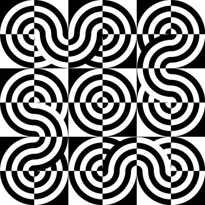 Optical Illusion Maze Art