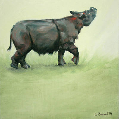 Asian Rhino Paintings