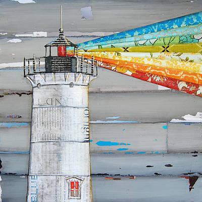 Nubble Lighthouse Mixed Media
