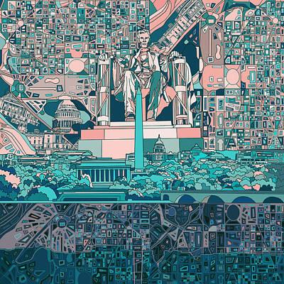 Lincoln Memorial Digital Art