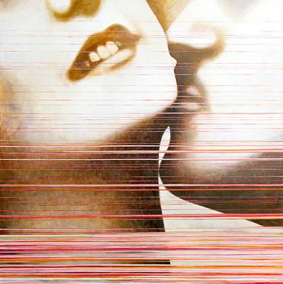 Kissing Paintings Original Artwork