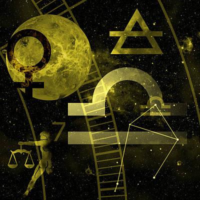 Libra Digital Art Original Artwork