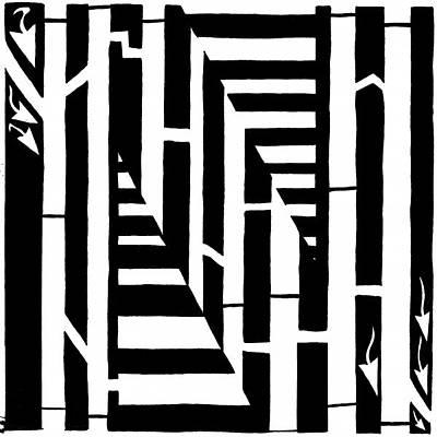 Alphabet Mazes Art Prints