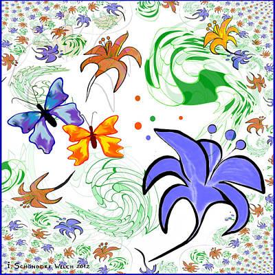 Springflowers Digital Art Prints