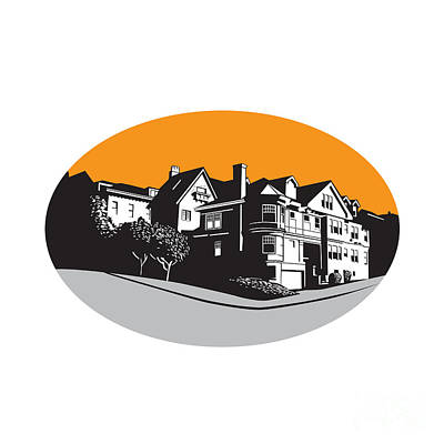 Designs Similar to American Mansion House Oval Wpa