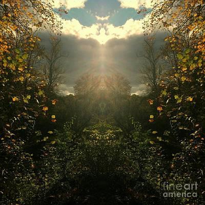Southern Indiana Autumn Digital Art Prints