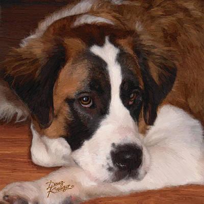 Puppies Digital Art Original Artwork