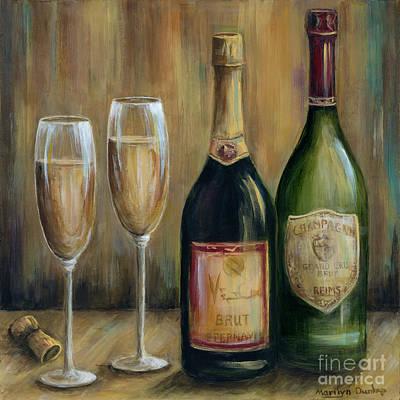 Champagne Glasses Original Artwork