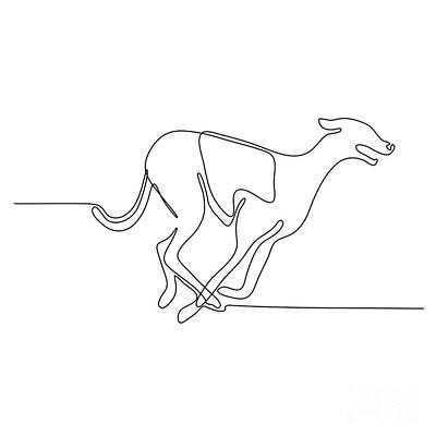 Dog Race Track Digital Art